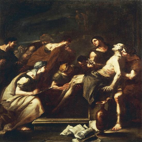 Seneca Dying, Luca Giordano--Giclee Print