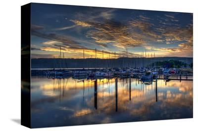 Seneca Lake Sunrise-Robert Lott-Stretched Canvas Print
