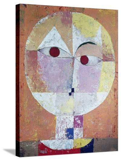 Senecio (detail)-Paul Klee-Stretched Canvas Print