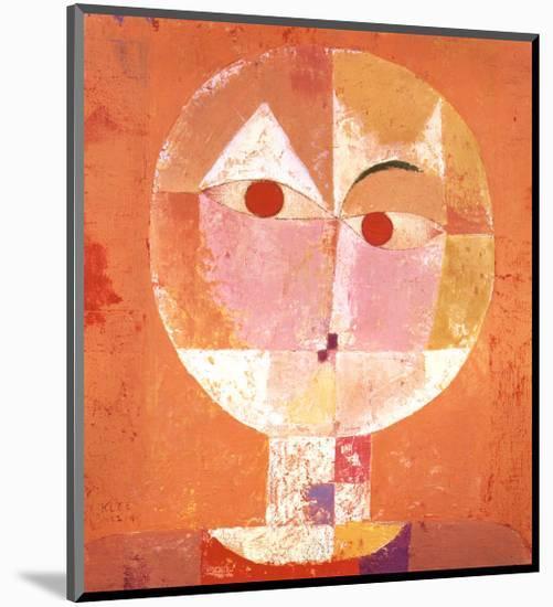 Senecio-Paul Klee-Mounted Art Print