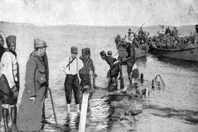 Senegalese Soldiers Embarking on the Egyptian Coast, World War I, 1915--Giclee Print