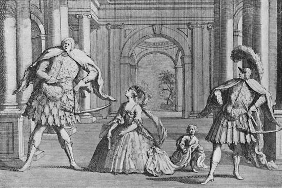 'Senesino on the Stage', 1725, (1904)-Unknown-Giclee Print