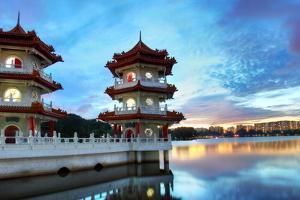 Chinese Garden Twin Pagoda Singapore by seng chye teo