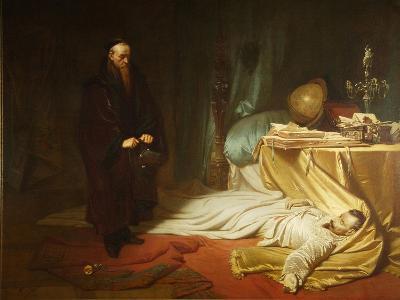 Seni at the Dead Body of Wallenstein, 1855-Carl Theodor von Piloty-Giclee Print