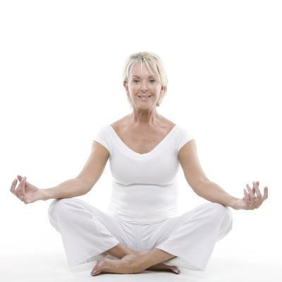 Senior Woman Doing Yoga-Science Photo Library-Photographic Print