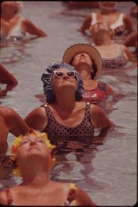 Senior Women in Exercises at Century Village Retirement Community, Florida, 1970s