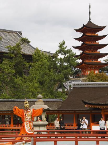Senjokaku 5 Story Pagoda at Itsukushima Shrine, Miyajima Island, Honshu Island, Japan-Kober Christian-Photographic Print
