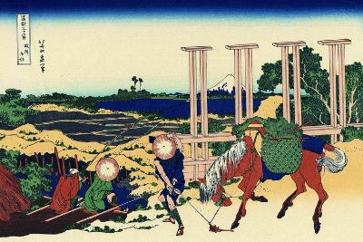 Senju, Musashi Province, (From a Series 36 Views of Mount Fuj), 1830-1833-Katsushika Hokusai-Giclee Print