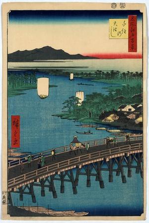 Senju No Ohashi-Utagawa Hiroshige-Giclee Print