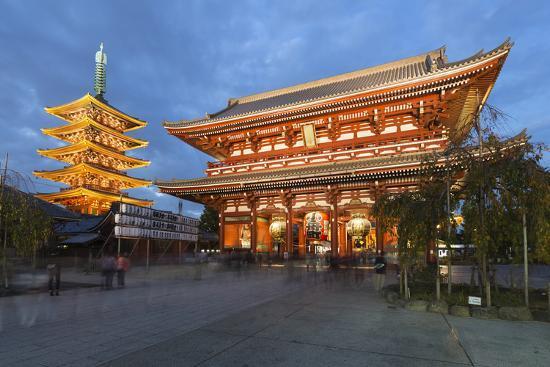 Senso-Ji, an Ancient Buddhist Temple, at Night, Asakusa, Tokyo, Japan, Asia  Photographic Print by Stuart Black | Art com