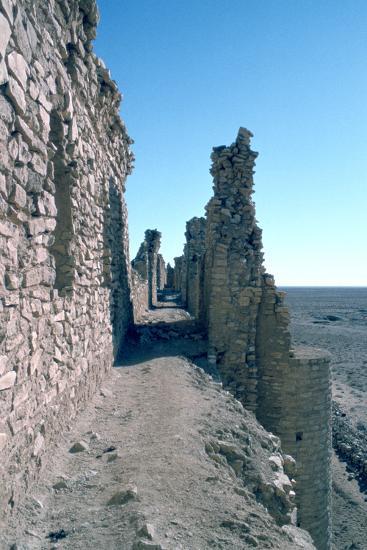 Sentry Walk, Fortress of Al Ukhaidir, Iraq, 1977-Vivienne Sharp-Photographic Print