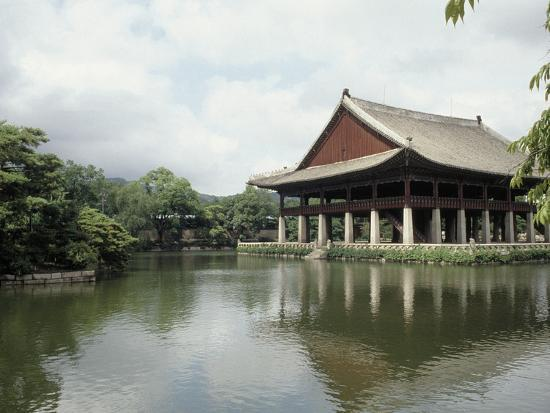 Seoul-Pavilion Kyonghoeru-Bill Bachmann-Photographic Print