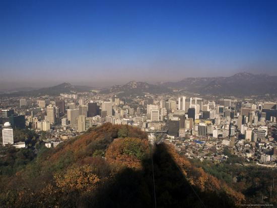 Seoul, South Korea, Korea-Charles Bowman-Photographic Print