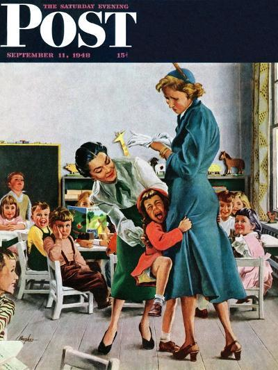 """""""Separation Anxiety,"""" Saturday Evening Post Cover, September 11, 1948-George Hughes-Giclee Print"""