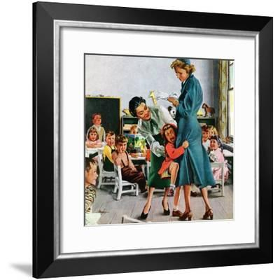 """""""Separation Anxiety,"""" September 11, 1948-George Hughes-Framed Giclee Print"""