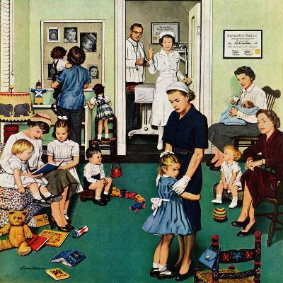 """Separation Anxiety"", September 3, 1955-Stevan Dohanos-Giclee Print"