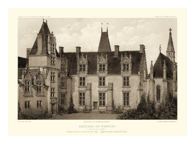 Sepia Chateaux I-Victor Petit-Art Print