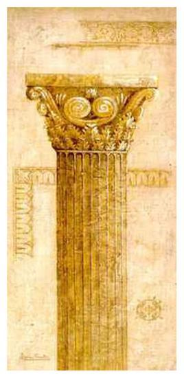 Sepia Column Study IV-Javier Fuentes-Art Print