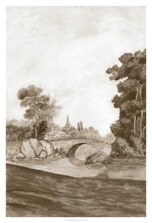 Sepia French Wall Paper III-Naomi McCavitt-Giclee Print