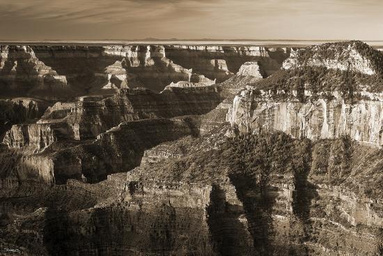 Sepia Grand Canyon 1-Gordon Semmens-Photographic Print