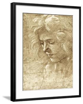 Sepia Maiden-null-Framed Art Print