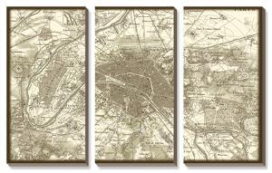 Sepia Map of Paris