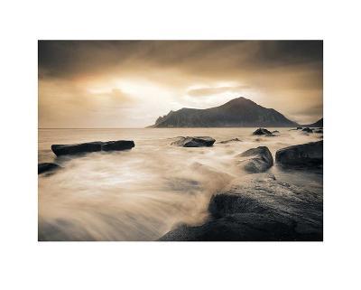 Sepia Sea, Lofoten Islands-Andreas Stridsberg-Art Print