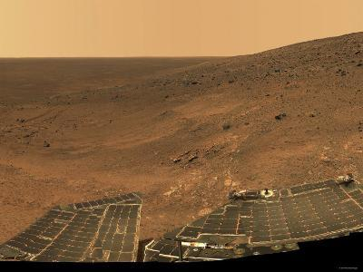 September 1, 2005, Panoramic View of Mars Taken from the Mars Exploration Rover-Stocktrek Images-Photographic Print