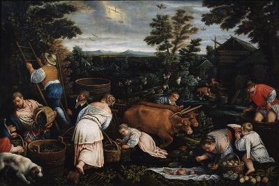 September (From the Series the Seasons), Late 16th or Early 17th Century-Leandro Bassano-Giclee Print