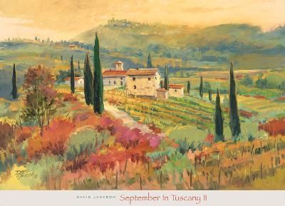 September in Tuscany II-David Jackson-Art Print