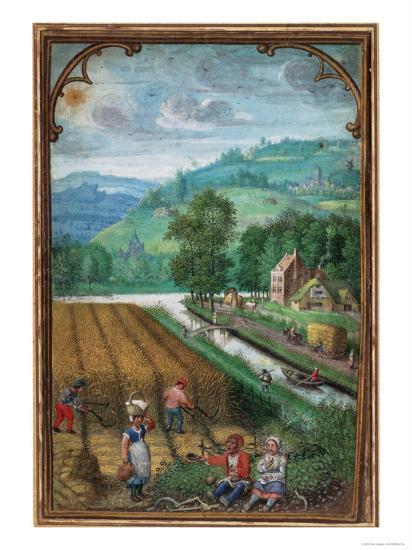 September Leaf from a Calender Book of Hours-Simon Benninck-Giclee Print