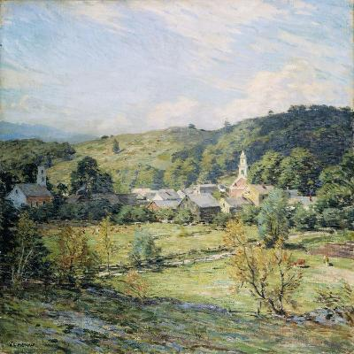 September Morning, Plainfield, New Hampshire-Willard Leroy Metcalf-Giclee Print