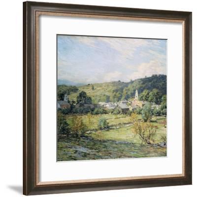 September Morning, Plainfield, New Hampshire-Willard Leroy Metcalf-Framed Giclee Print