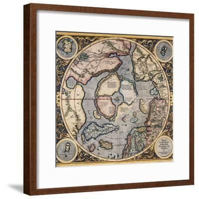 Septentrionalium Terrarum Descriptio 1569-Gerard Mercator-Framed Giclee Print