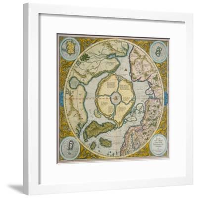 Septentrionalium Terrarum Descriptio, 1595-Gerardus Mercator-Framed Giclee Print