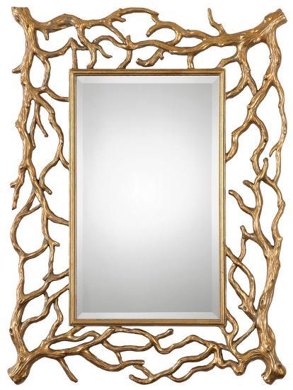 Sequoia Gold Tree Branch Mirror--Wall Mirror