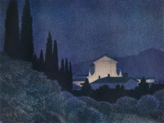 'Sera di Festa', c1930 (1934)-Giuseppe Ugonia-Giclee Print