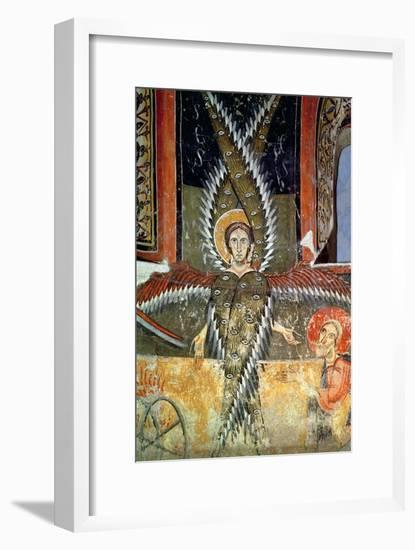 Seraphim Purifying the Lips of Isaiah, Catalan School--Framed Giclee Print