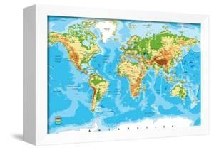 Physical Map of the World by Serban Bogdan