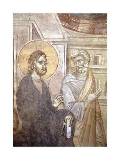 Serbia, Kosovo, Pristina Portraying Christ and Saint Peter in Gracanica Monastery--Giclee Print