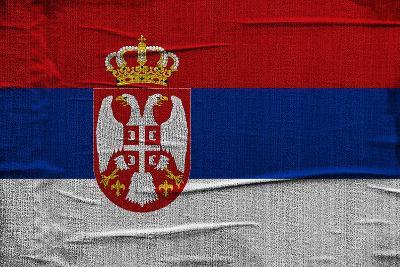 Serbian Flag-igor stevanovic-Art Print