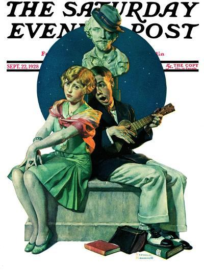 """Serenade"" Saturday Evening Post Cover, September 22,1928-Norman Rockwell-Giclee Print"