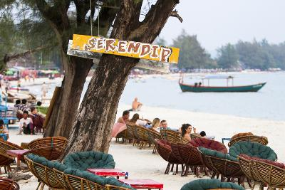 Serendipity Beach Is the Main Beach in Sihanoukville, Cambodia-Micah Wright-Photographic Print