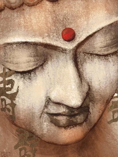Serene Buddha-Raspin Stuwart-Art Print