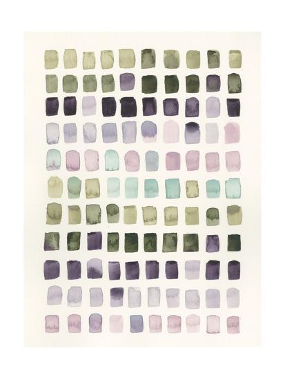 Serene Color Swatches I-Grace Popp-Art Print