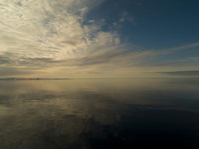 Serene View of Still Water under the Arctic Sky-Norbert Rosing-Photographic Print