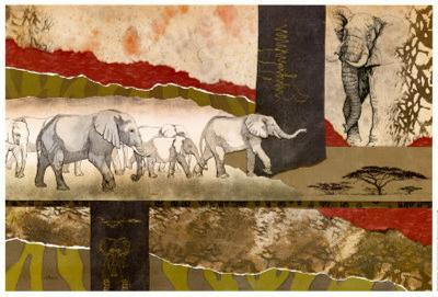 Serengeti Elephants-Joseph Poirier-Art Print