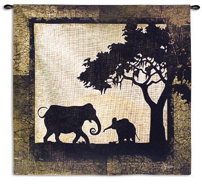 Serengeti Elephants-Jennifer Pugh-Wall Tapestry