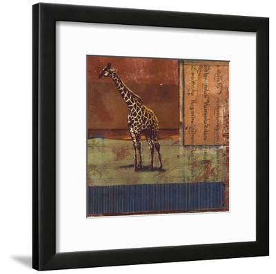 Serengeti Giraffe-Fischer Warnica-Framed Art Print