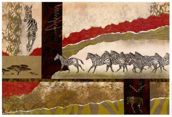 Serengeti Zebras-Joseph Poirier-Art Print